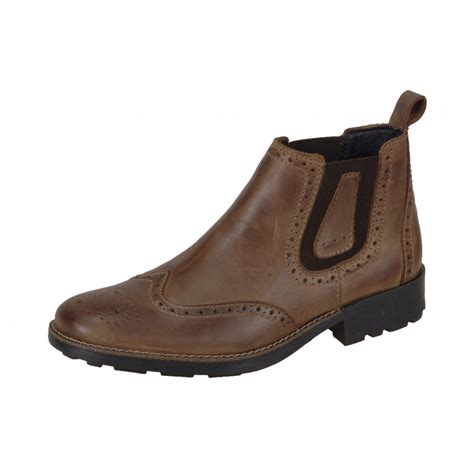 36081 25 brown leather slip on boot