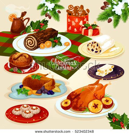 foods traditions dinners desserts cookies traditions songs lores about books cuisine festive dinner table stock