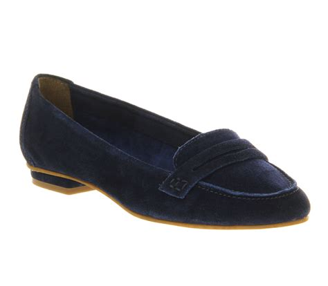 womens blue loafers womens office playtime loafer blue suede flats