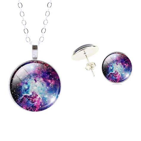 Galaxy Earrings galaxy necklace earrings set cool gear spot