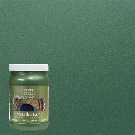 Metallic House Paint Interior by Modern Masters 1 Qt Green Metallic Interior