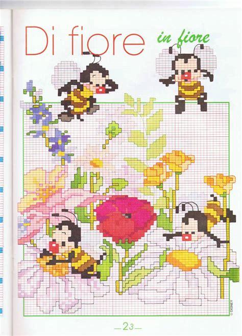 animali con fiori animali api su fiori magiedifilo it punto croce