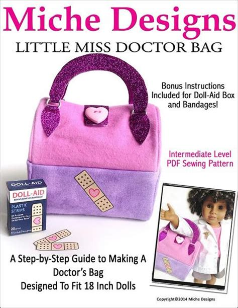 Tutorial Mini Doctor Bag miche designs miss doctor bag doll clothes pattern