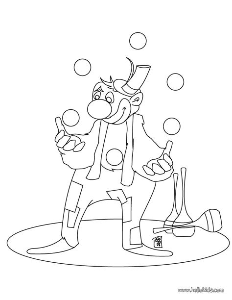 printable juggling instructions juggling clown coloring pages hellokids com