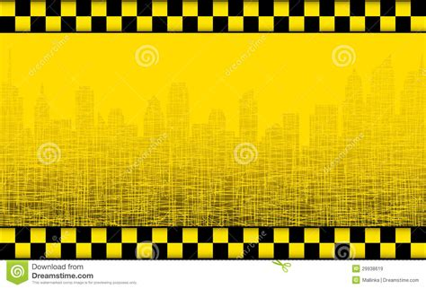 New American House Plans background with taxi sign and city silhouette royalty free