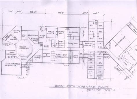 technical floor plan mega vocational school planned on essex aggie cus