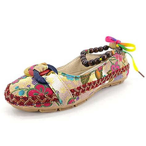 colorful loafers huanyoo comfortable ethnic beading flats toe