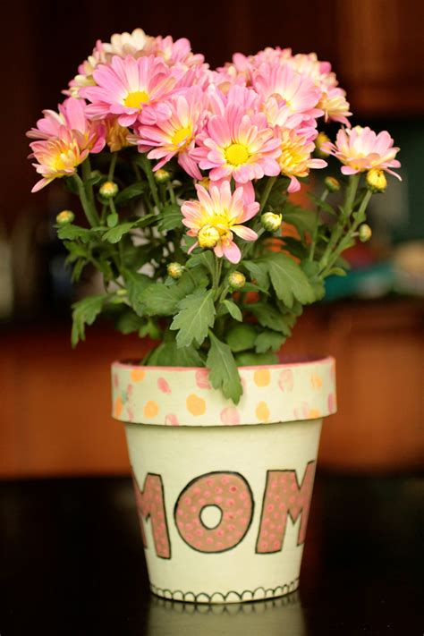 painted s day flower pot