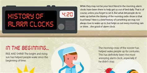 a look at the history of the alarm clock infographix directory