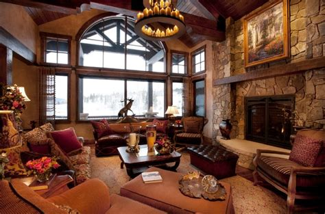 western living rooms rustic western living room decor with natural wall stone