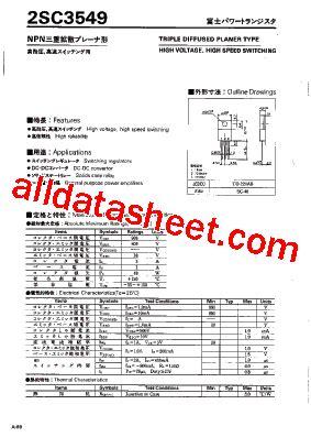et191 transistor datasheet 2sc3549 datasheet pdf fuji electric