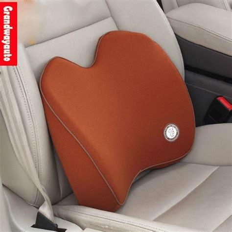 memory foam car seat lumbar back support cushion pillow