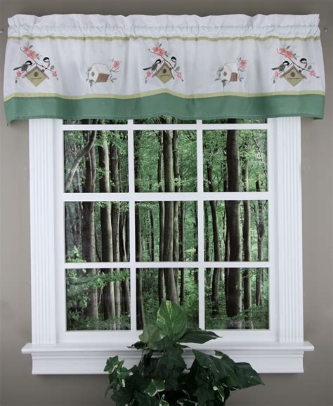 bird song tailored valance bird theme valance tiers