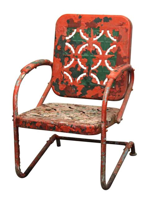 Cast Iron Patio Chairs 1960s Cast Iron Floral Patio Rocker Olde Things