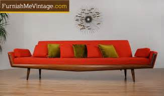 Vintage Orange Sofa Adrian Pearsall Retro Sofa A San Francisco Clockwork Orange
