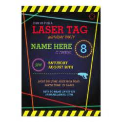laser tag birthday invitations announcements zazzle au