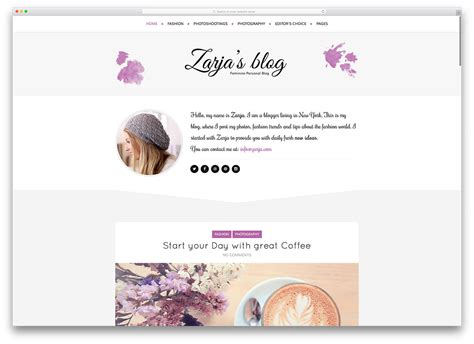 personal blog layout ideas 40 best personal blog wordpress themes 2018 colorlib