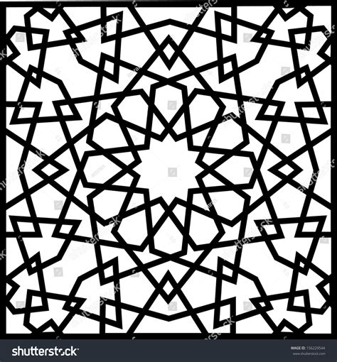 islamic star vector pattern beautiful complex twelve 12 point ancient stock vector