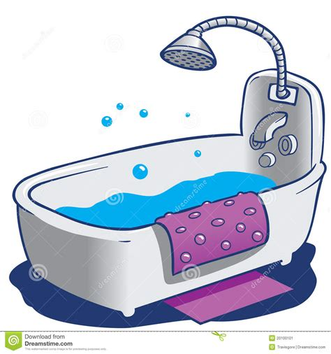 bath tub and shower stock illustration image of soap