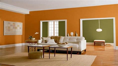 green wall living room orange  green wall color