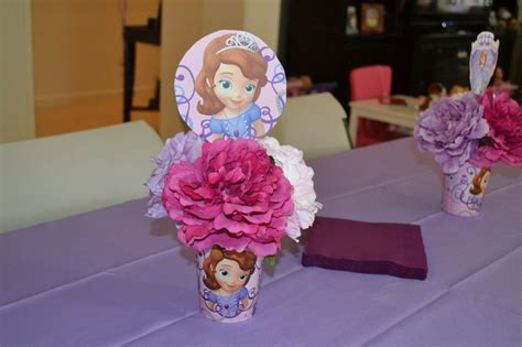 sofia the first centerpiece sophie s 3rd birthday party
