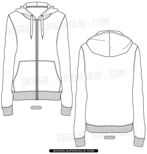 zip hoodie design template full zip up hoodie vector template gifts pinterest