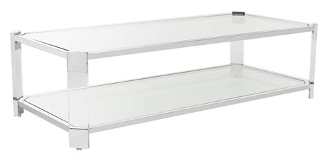 shop safavieh dermot silver clear glass top end table at sfv2527a safavieh