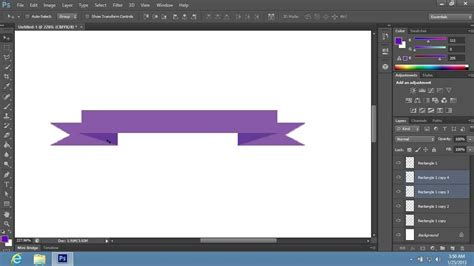 banner design in photoshop cs6 how to make ribbon banner in photoshop cs6 youtube