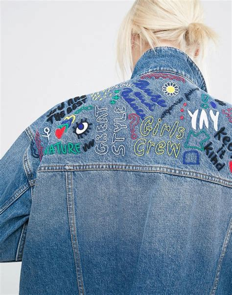 Embroidery Button Jacket best 25 denim jackets ideas on jean jackets