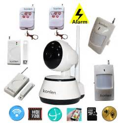 smart house home security alarm system wireless with hd ip