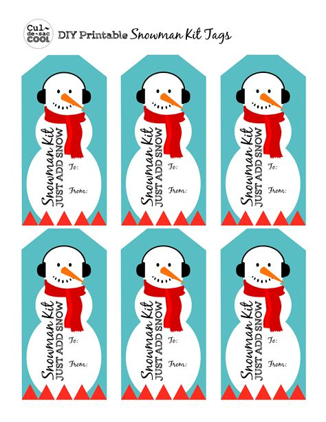 printable christmas stocking tags diy snowman kit in a jar with free printable tag great