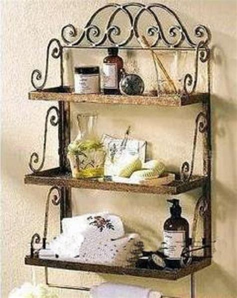 China Bathroom Wrought Iron Wall Rack Lf0052 China Wrought Iron Bathroom Shelves