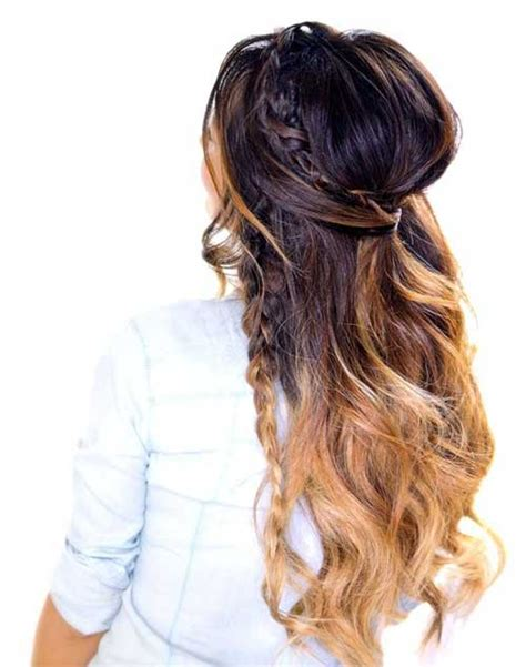 half up half down daily hairstyles 30 best half up curly hairstyles hairstyles haircuts
