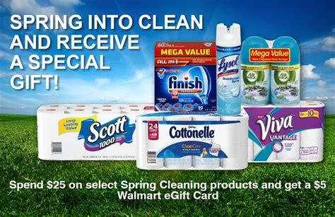 Family Dollar E Gift Card - free 5 walmart egift card with 25 spring cleaning purchase