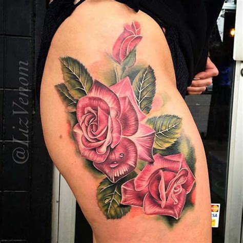 roses thigh tattoos 99 spicy thigh tattoos and designs for