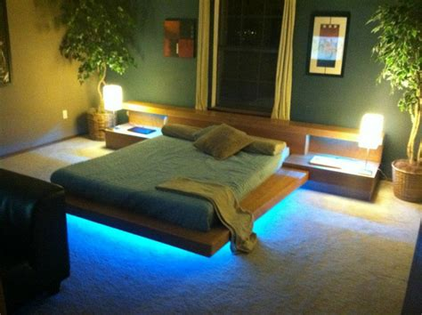 bed with lights platform bed pictures