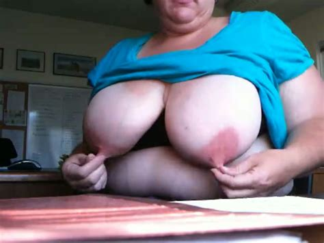 Naughty Spanish Slut With Huge Boobs Suckles Her Own