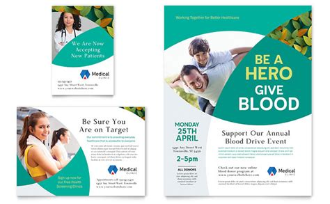 free printable templates for advertising doctor s office flyer ad template design