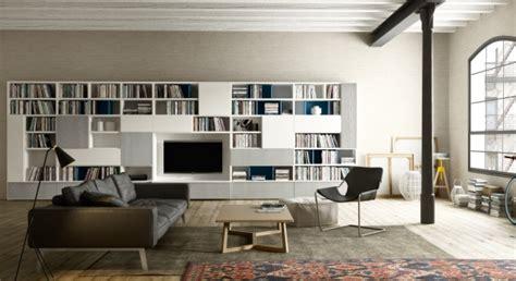 libreria con tv pareti attrezzate e librerie napol arredamenti