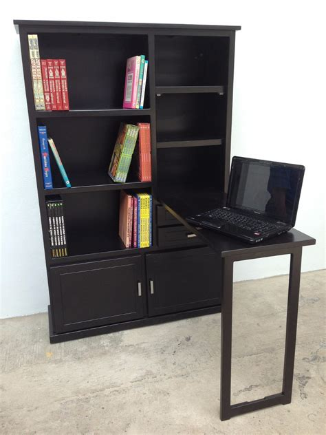 librero organizador librero 1 mueble 2 en 1 escritorio de madera