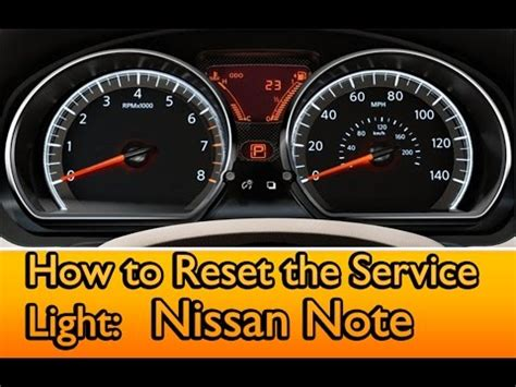 nissan service engine light service light reset on a nissan note