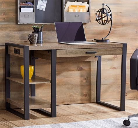 rustic computer desk industrial home office furniture