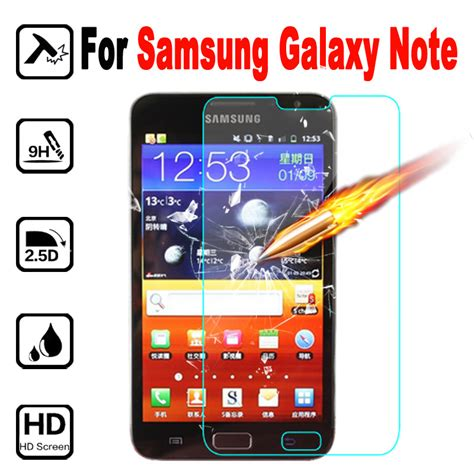 Samsung Galaxy Note 1 N7000 Tempered Glass Screen Protector T1910 3 for samsung galaxy n 7000 tempered glass protective