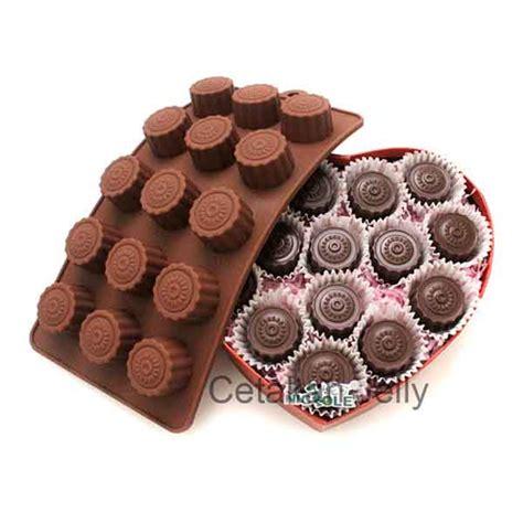 Cetakan Coklat Puding Button Kancing cetakan silikon coklat puding button cetakan jelly cetakan jelly