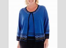 Alfred Dunner® Windy City Border Two For One Top - JCPenney Elfster Exchange