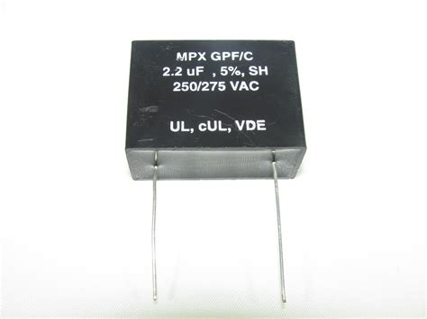 suppression capacitors mpx250s225j capacitor industries