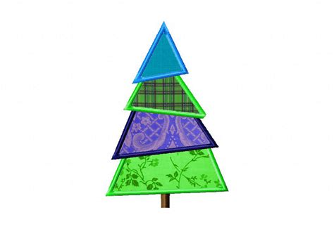 Free Christmas Tree Machine Applique Design   Daily Embroidery