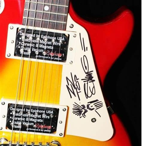 lot detail zz top billy gibbons signed quot charitybuzz epiphone guitar signed by zz top s billy