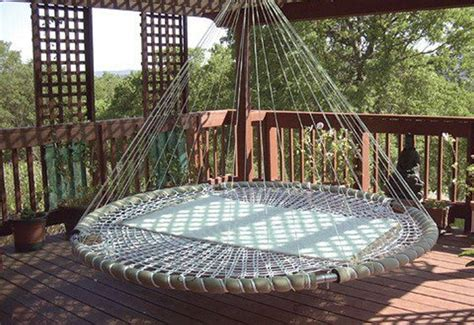 hanging hammock bed dream bed hammocks meet round mattresses in this hanging