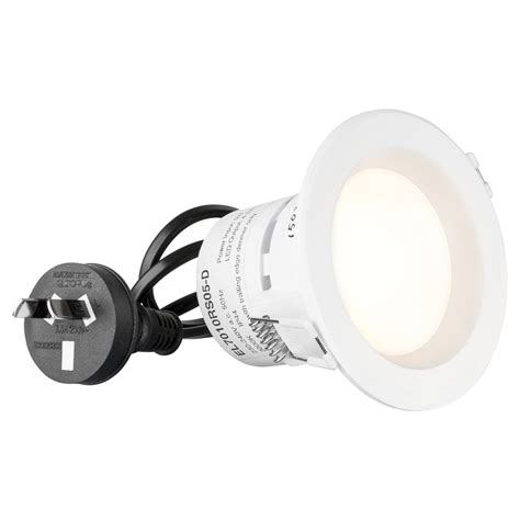Downlight Kaca Led 5w 3 Cahaya White Cool White Warm White bunnings hpm hpm 240v 5w 515lm cool white led dimmable downlight compare club